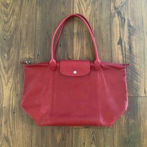 Authentic Longchamp Le Pliage Leather Bag